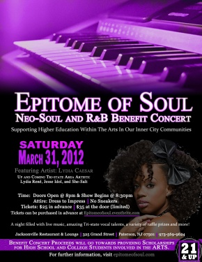 Epitome of Soul Benefit Concert (Flyer by Cathiana Vital)